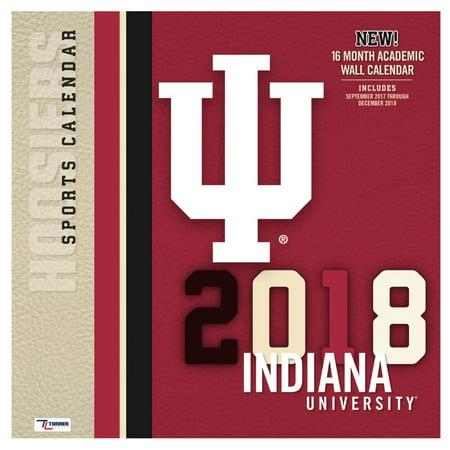 Turner Sports Indiana Hoosiers 2018 12X12 Team Wall Calendar