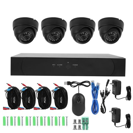 1080P 2MP AHD 4-Channel DVR & 4 Dome Cameras Smart Home Security Camera