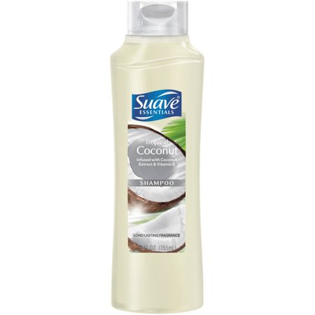Suave Essentials Tropical Coconut Shampoo, 12.6 oz