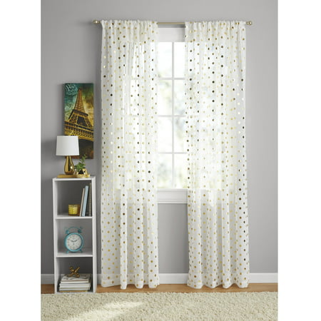 Your Zone Foil Dot Curtain -