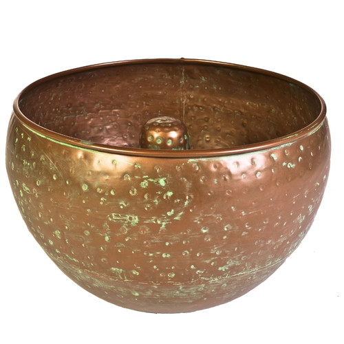 Garden Hose Container, Hammered Copper Finish by Garden Hoses*