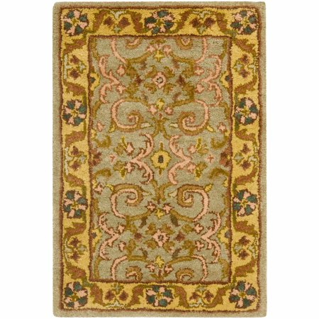 Heritage Carrick Traditional Area Rug Country Heritage Yellow Rug