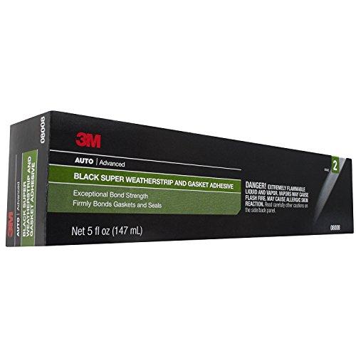 3M 08008 Black Super Weatherstrip Adhesive Tube 5 oz. by 3M