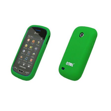 EMPIRE Neon Green Silicone Skin Cover Case for Samsung Eternity 2 (Eternity Skin)