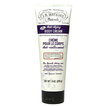 J R Watkins Anti Aging Body Cream, Grape Seed And Blackberry - 8 Oz, 3 Pack