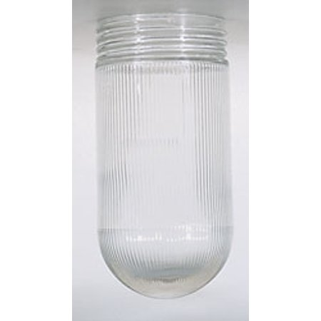 3 Inch Fitter Glass Chimney - Replacement for 50/547 THD FITTER CRYSTAL BULB SHADE 3 11/32 INCH DIAMETER 3 11/64 INCH SCREW FITTER 6 15/16 INCH 0.01 CLEAR RIBBED GLASS
