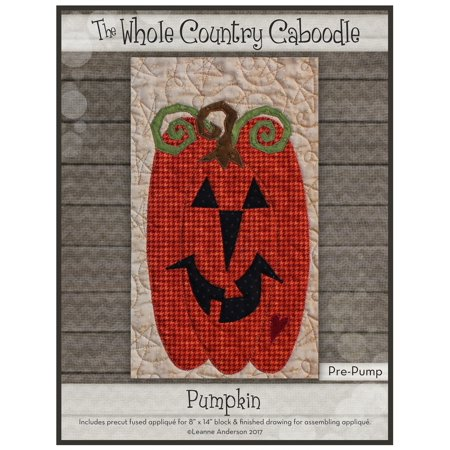 Kit~Pumpkin~Pre-Cut Applique Kit with Fabric by Whole Country (Fabric Applique Kit)