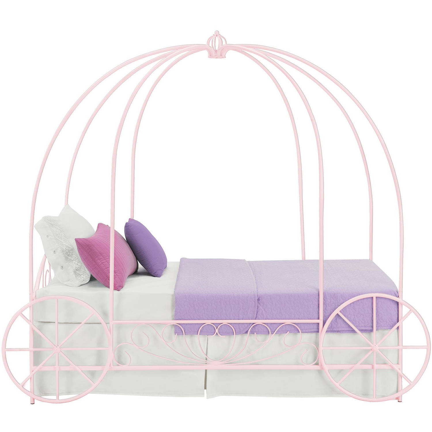 DHP Metal Twin Carriage Bed, Multiple Colors   Walmart.com