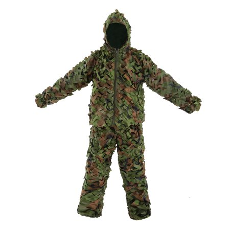 Camouflage Leafy Hunting Suit Jacket Pants Bionic Warrior Ghillie Suit for Hunting Games