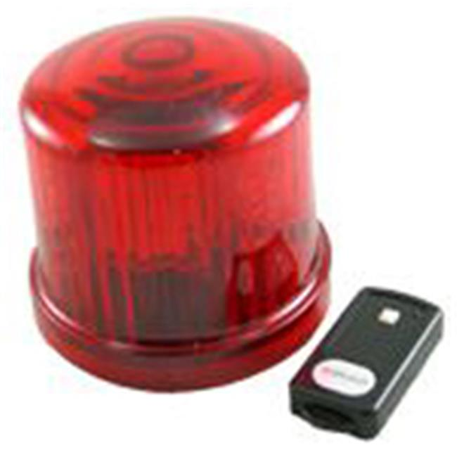 Fortune Products PL-300RJ-RC 4. 75 inch Rotating LED Beacon  Battery Operated-Jack - Red