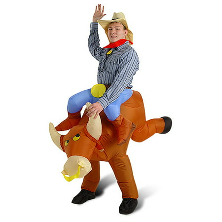 Adult's Airblown Inflatable Bull Rider Costume - One - Motorcycle Rider Costume