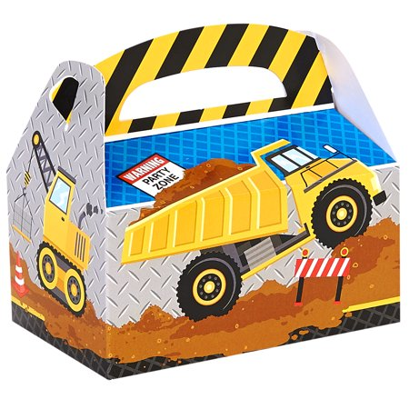 Construction Party Supplies 12 Pack Favor Box - Construction Themed Party Favors