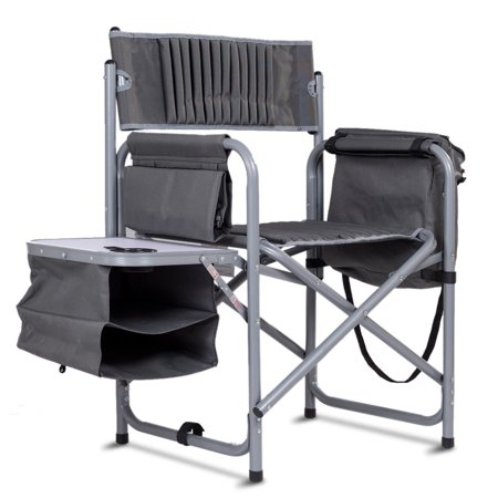 Folding Compact Director's Chair Aluminum Cup Holder Side Table Cooler Bag - image 7 of 10