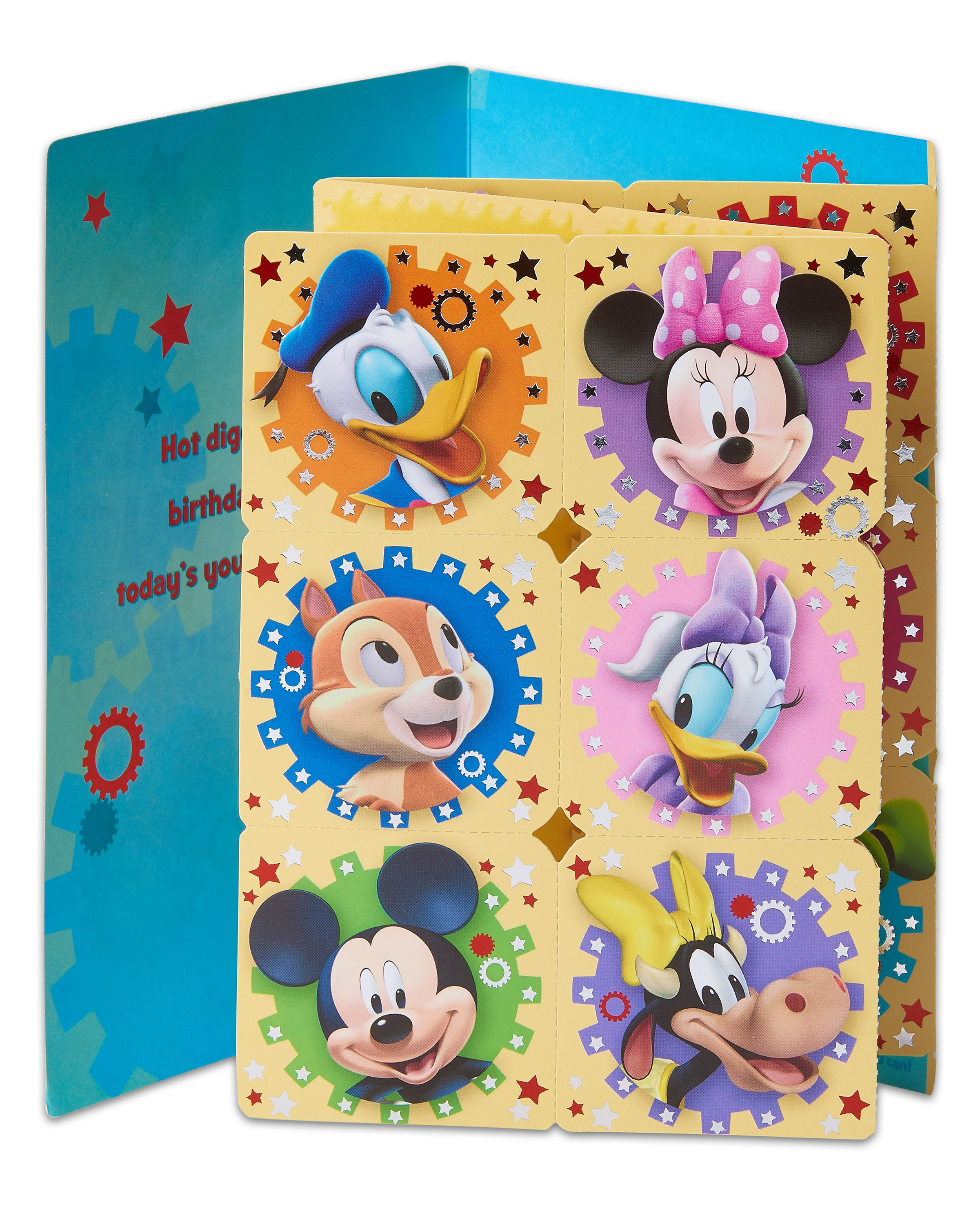 American Greetings Mickey Mouse Birthday Card for Boy with Memory ...