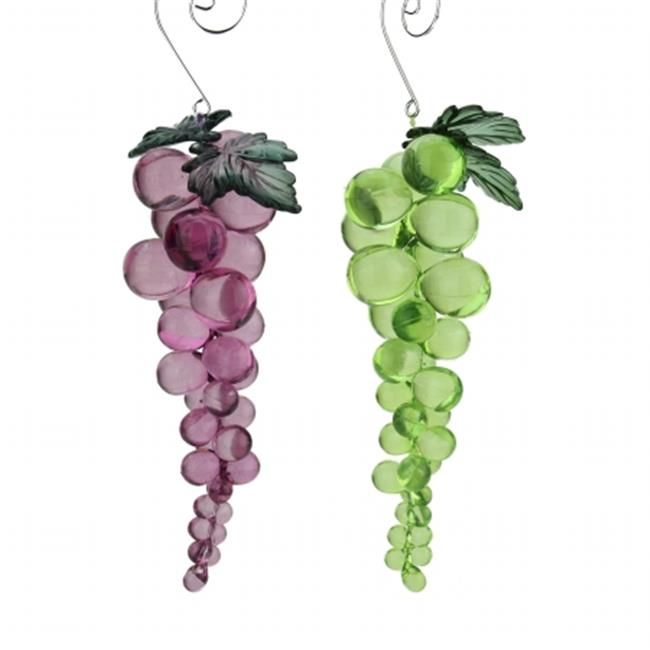 Northlight Seasonal 31752255 Tuscan Winery Purple Beaded Grape Cluster Christmas Ornament