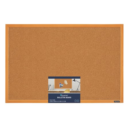 Quartet Cork Bulletin Board, 2' x 3', Wood Finish Frame ()