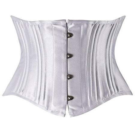 c537ea93218 Camellias Corsets - Camellias Women s 26 Steel Boned Corset Short Torso  Heavy Duty Waist Trainer Corset for Weight Loss White