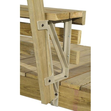 Sand Dekmate Build-a-Bench Deck Bench Brackets - Set of 2 (Sand)