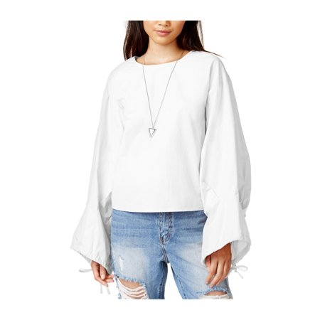 3acf126c017 J.O.A. Womens Cotton Oversized Button Up Shirt white L - image 1 of 1 ...
