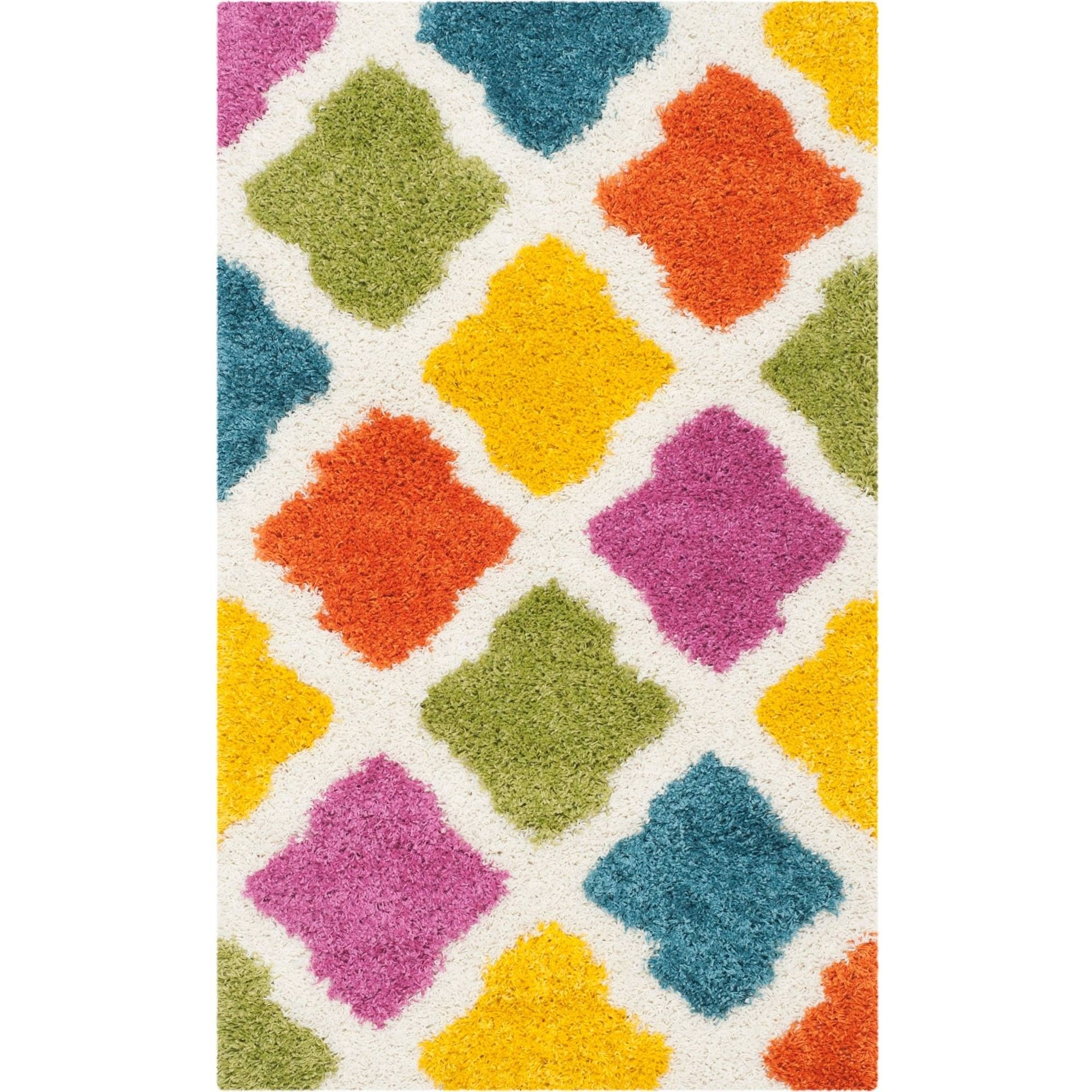 Safavieh Shag Kids Jaycob Power Loomed Area Rug, Ivory/Multi