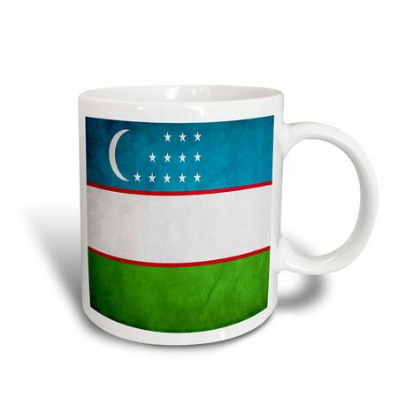 3dRose Uzbekistan Flag, Ceramic Mug, 11-ounce
