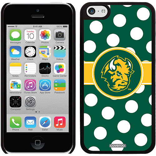 North Dakota State Polka Dots Design on iPhone 5c Thinshield Snap-On Case by Coveroo