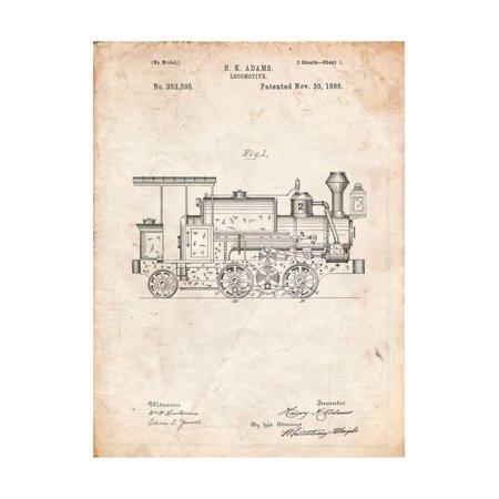 train locomotive patent print by cole borders