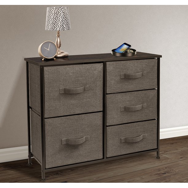 5 Drawers Chest Dresser - Brown