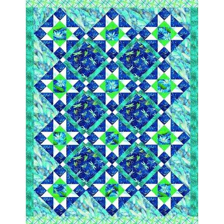 Dazzling Dragonflies Quilt Kit by Benartex -