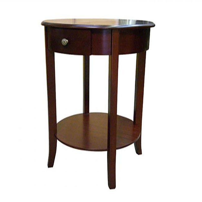 ORE International Round Cherry End Table