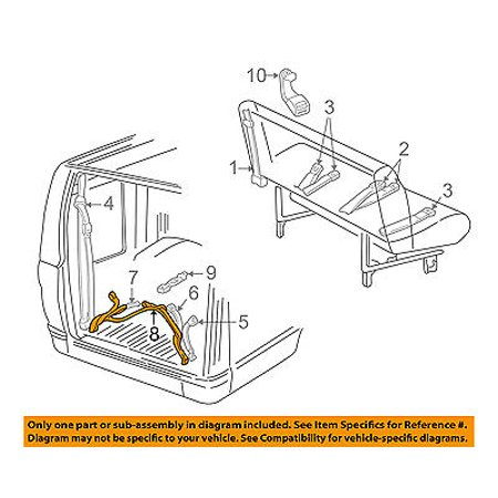 Dodge CHRYSLER OEM 01-02 Ram 1500 Van Rear Seat Belt-Lap Belt Left 5DW52XDV