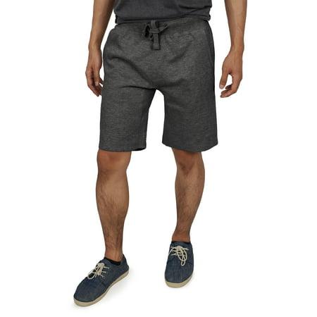 Ma Croix Men's Premium Cotton Sweat Shorts with Drawstring Classic Fit Athletic Fleece Jogger