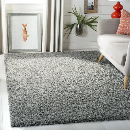 Square Red Shag Rug - Safavieh Lavena Solid Plush Shag Area Rug or Runner