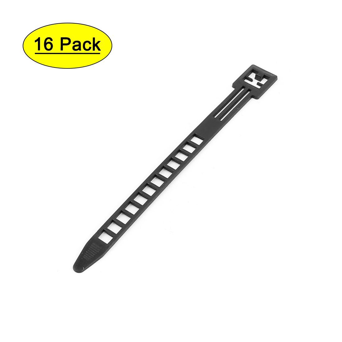 16pcs 140mm Nylon Adjustable Self-Locking Network Cable Cord Wire Zip Ties Strap