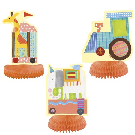 Circus Baby Shower Centerpiece Decorations, 3pc
