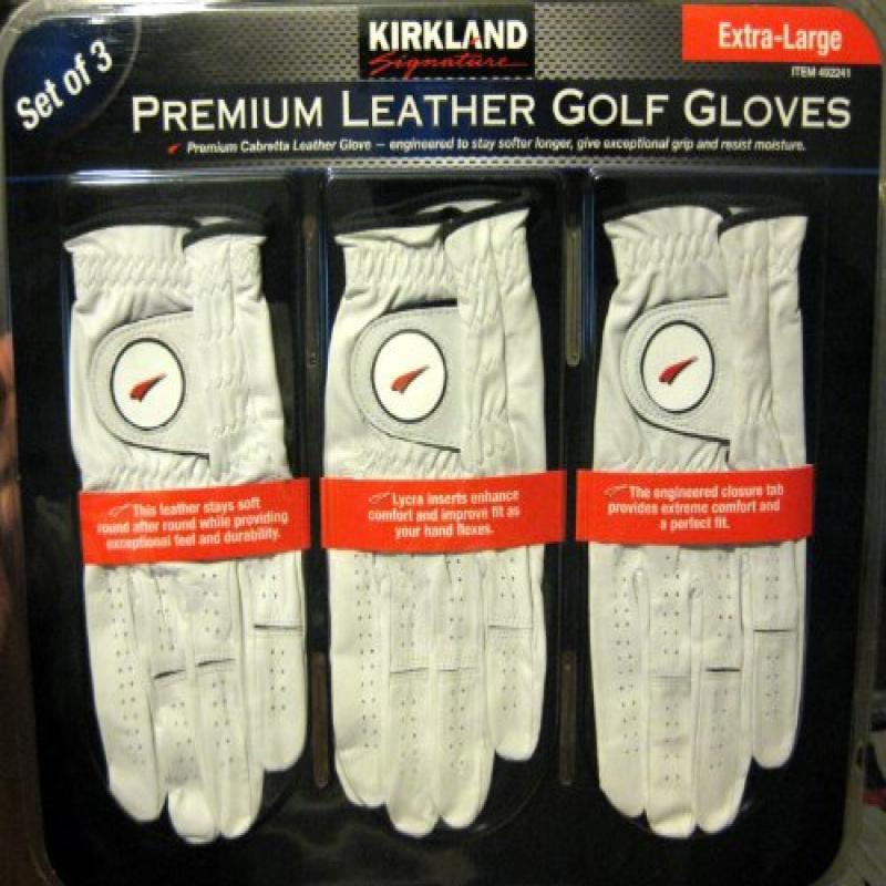 Kirkland Signature Premium Cabretta Leather Golf Gloves, ...