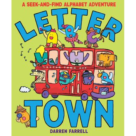 Letter Town: A Seek-And-Find Alphabet - Bubble Alphabet Letters