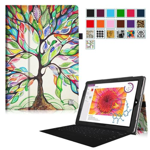 Fintie Case for Microsoft Surface 3 - PU Leather Folio Stand Cover for Microsoft Surface 3 10.8-Inch Tablet, Love Tree