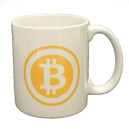 Bitcoin Logo Double Sided Coffee Mug Microwave   Dishwasher Safe