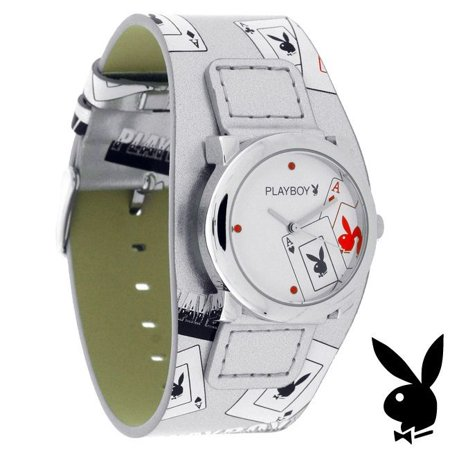 Acme Watch (Watch ACES Bunny Logo Playing Cards Leather Band Teens Licensed RARE)