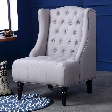 wing back accent chairs belleze modern wingback tufted nailhead accent chair tall 22164 | 04b40743 9084 433f be63 061c20793b69 1.82c0f6f79fb889a417b6f4fbf15c91ee