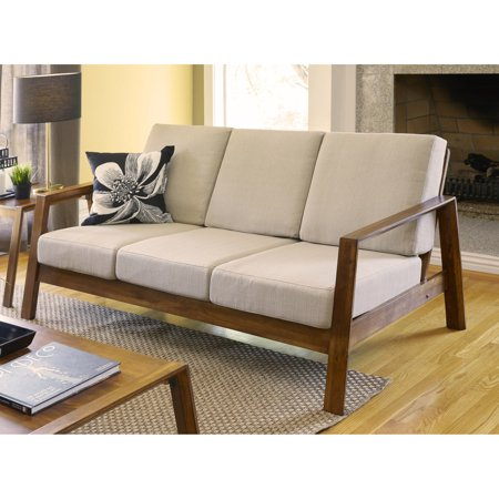 Superb Palm Canyon Murray Mid Century Modern Barley Tan Linen Sofa Caraccident5 Cool Chair Designs And Ideas Caraccident5Info