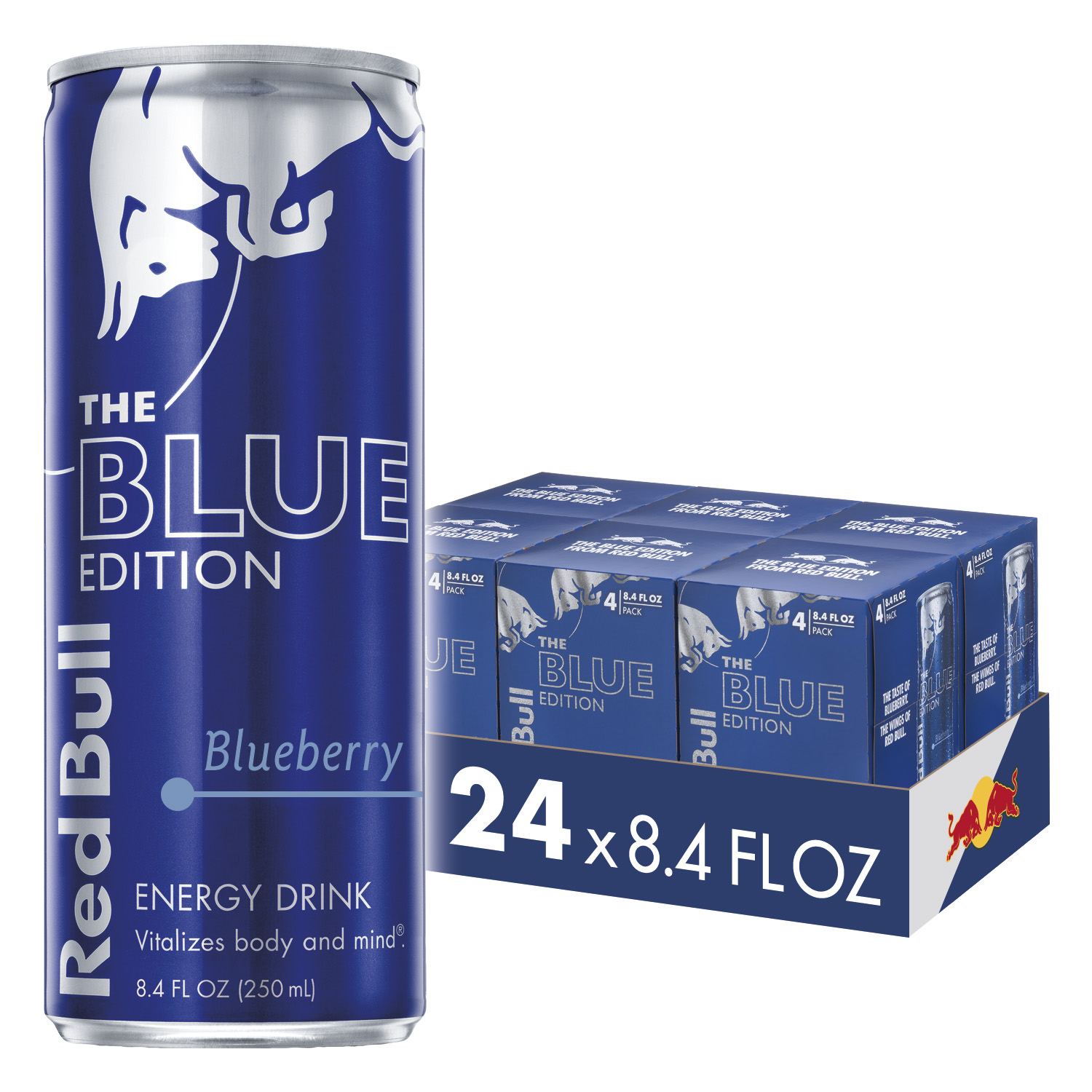 Red Bull Blue Edition Energy Drink, Blueberry, 8.4 Fl Oz, 24 Count