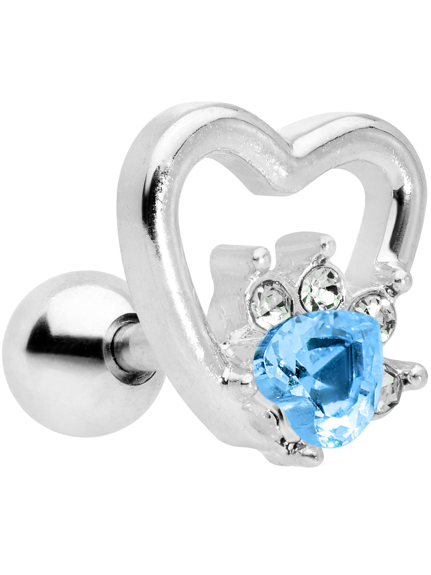 Body Candy - Body Candy 16G Womens 316L Steel Blue Accent ...