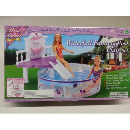 Dollhouse Pool - Waterfall Fantasy Pool Play Set / Swing Pool for 11.5
