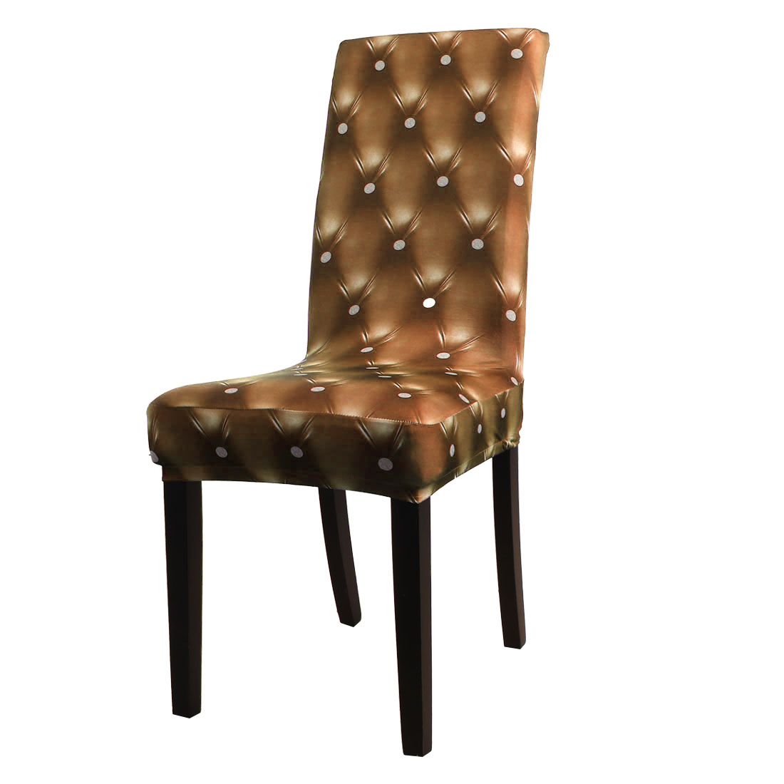3D Pattern Spandex Stretch Short Chair Seat Covers Dining Chair Slipcovers by Unique Bargins