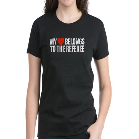 CafePress - My Heart Belongs To The Referee Women's Dark T-Shi - Women's Dark T-Shirt](Referee T Shirts)