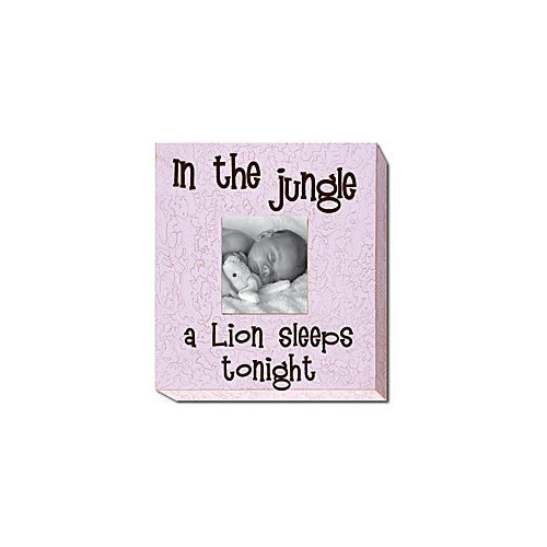 Forest Creations In the Jungle a Lion Sleeps Tonight Picture Frame