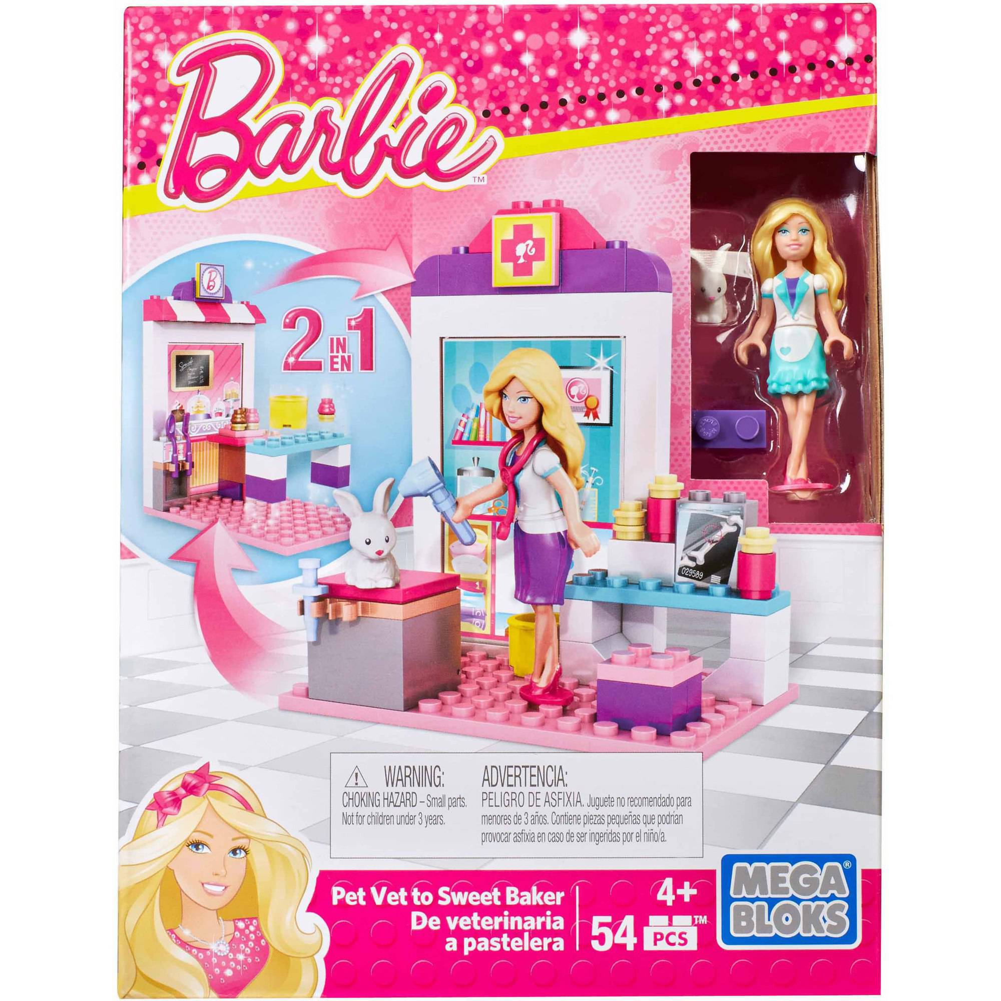 Mega Bloks Barbie I Can Be Vet & Baker