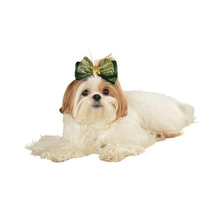 Pet Christmas Holiday Saint Patricks Day Green Dog Cat Jolly Hair Bow
